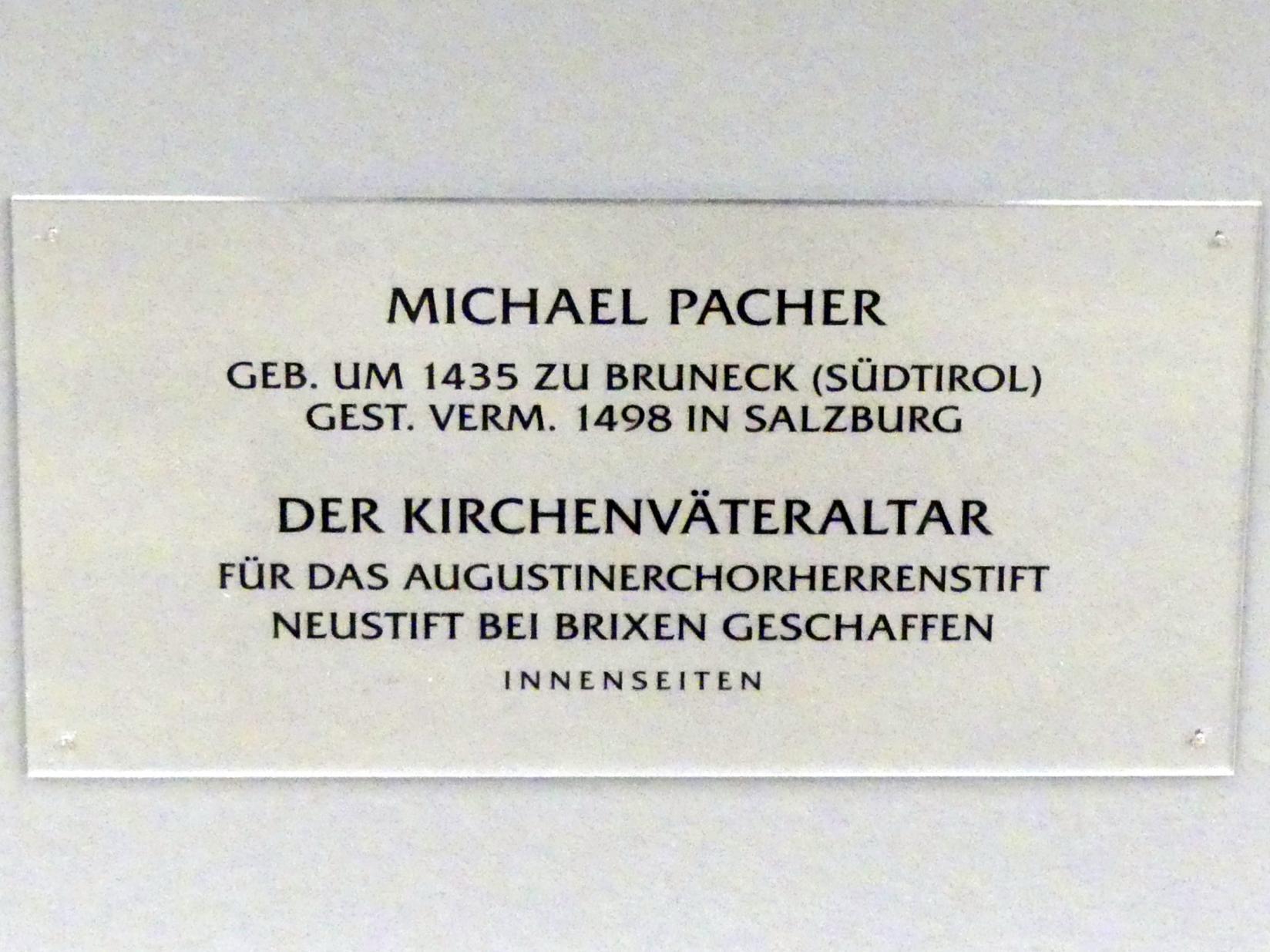 Michael Pacher: Kirchenväteraltar aus Kloster Neustift, 1470 - 1478, Bild 4/4