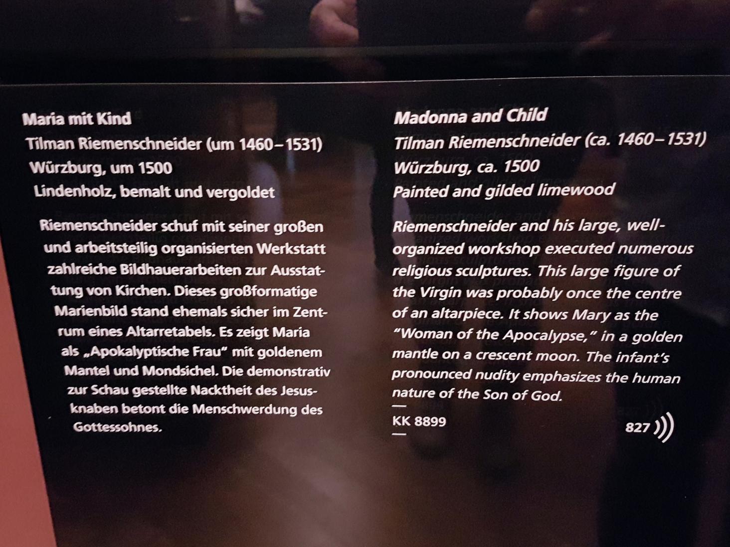 Tilman Riemenschneider: Maria mit Kind, um 1505 - 1510, Bild 6/6