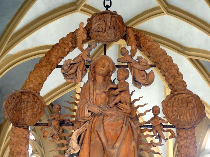 Tilman Riemenschneider: Maria im Rosenkranz, 1521 - 1524