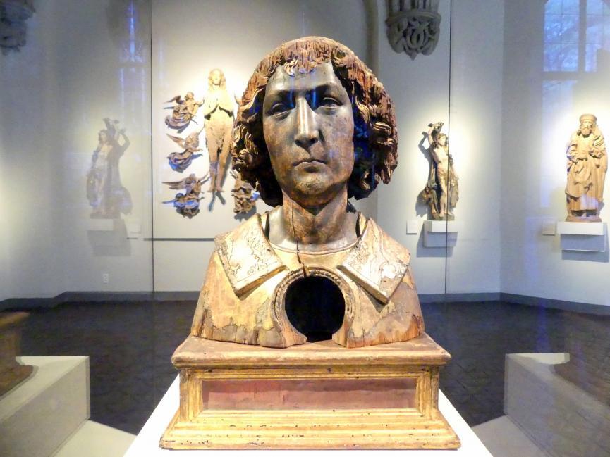 Tilman Riemenschneider: Reliquienbüste: Jugendlicher Heiliger, Um 1500