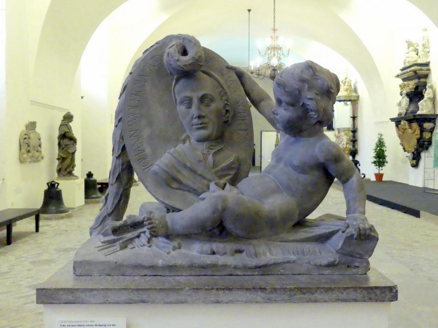 Johann Peter Wagner: Putto mit dem Bildnis Johann Wolfgang van der Auwera, 1778 - 1780