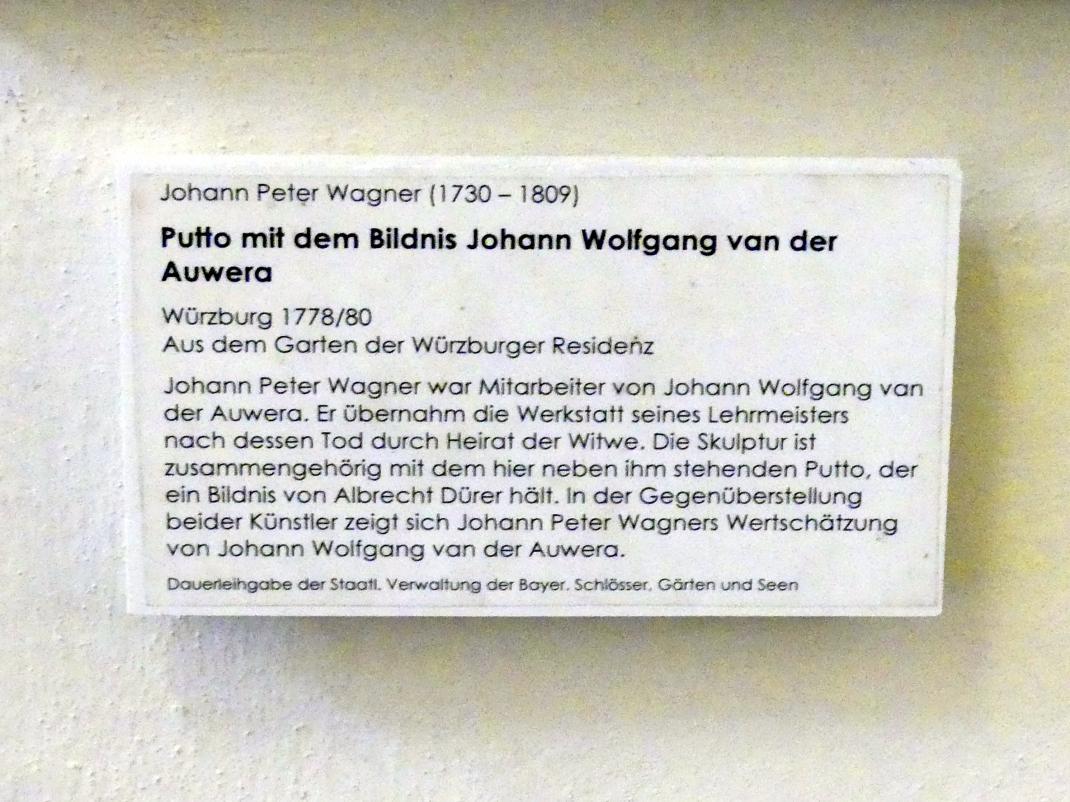 Johann Peter Wagner: Putto mit dem Bildnis Johann Wolfgang van der Auwera, 1778 - 1780, Bild 2/2