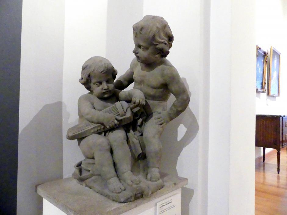 Johann Peter Wagner: Zwei Putten mit Leierkasten, 1776 - 1777