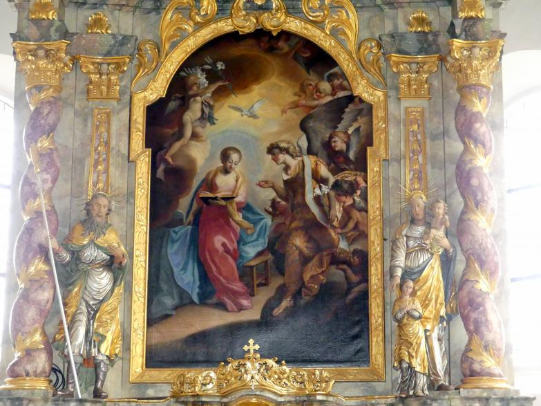 Cosmas Damian Asam: Hochaltarblatt Mariä Verkündigung, 1716