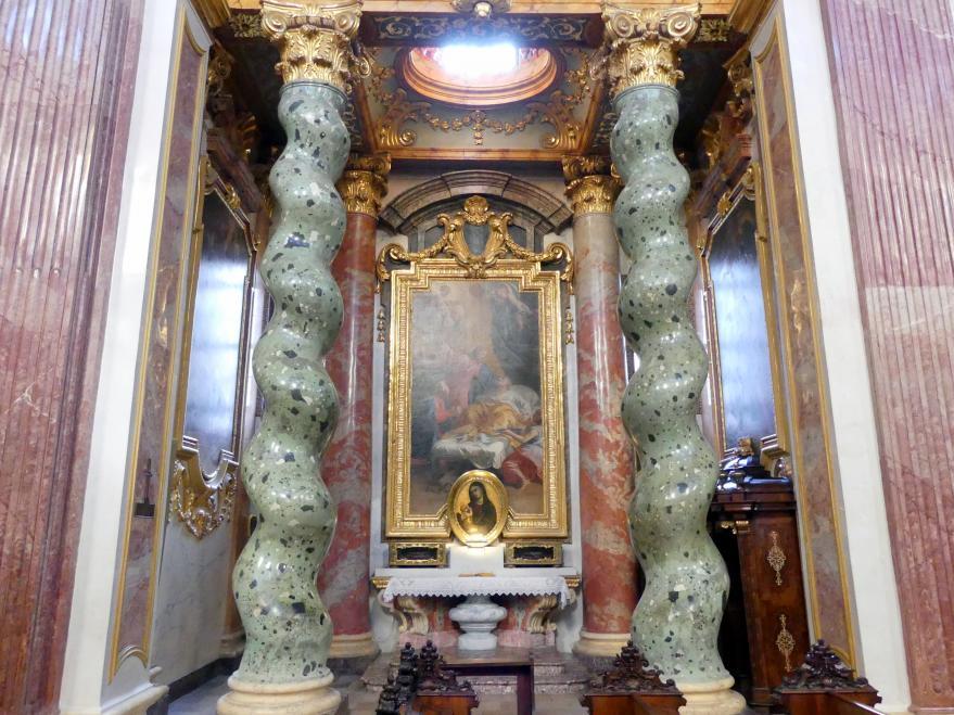 Andrea Pozzo: Je ein Altarbild und zwei Seitenbilder in den acht Seitenkapellen, 1703 - 1709