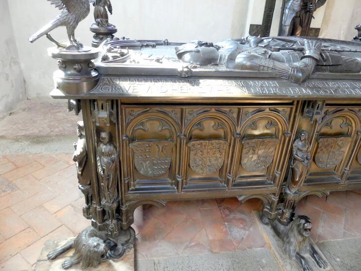 Hermann Vischer der Jüngere: Grabmal Elisabeth von Brandenburg (1474–1507) und Hermann VIII. von Henneberg (1470-1535), nach 1507, Bild 4/18