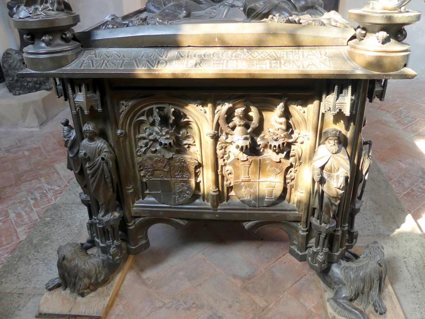 Hermann Vischer der Jüngere: Grabmal Elisabeth von Brandenburg (1474–1507) und Hermann VIII. von Henneberg (1470-1535), nach 1507, Bild 6/18