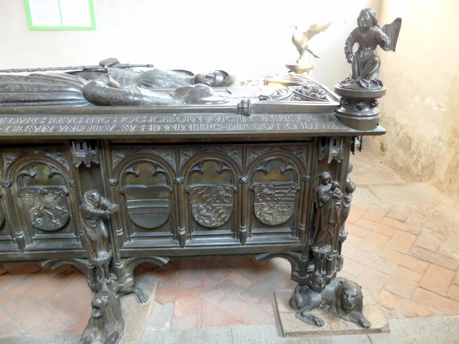 Hermann Vischer der Jüngere: Grabmal Elisabeth von Brandenburg (1474–1507) und Hermann VIII. von Henneberg (1470-1535), nach 1507, Bild 9/18