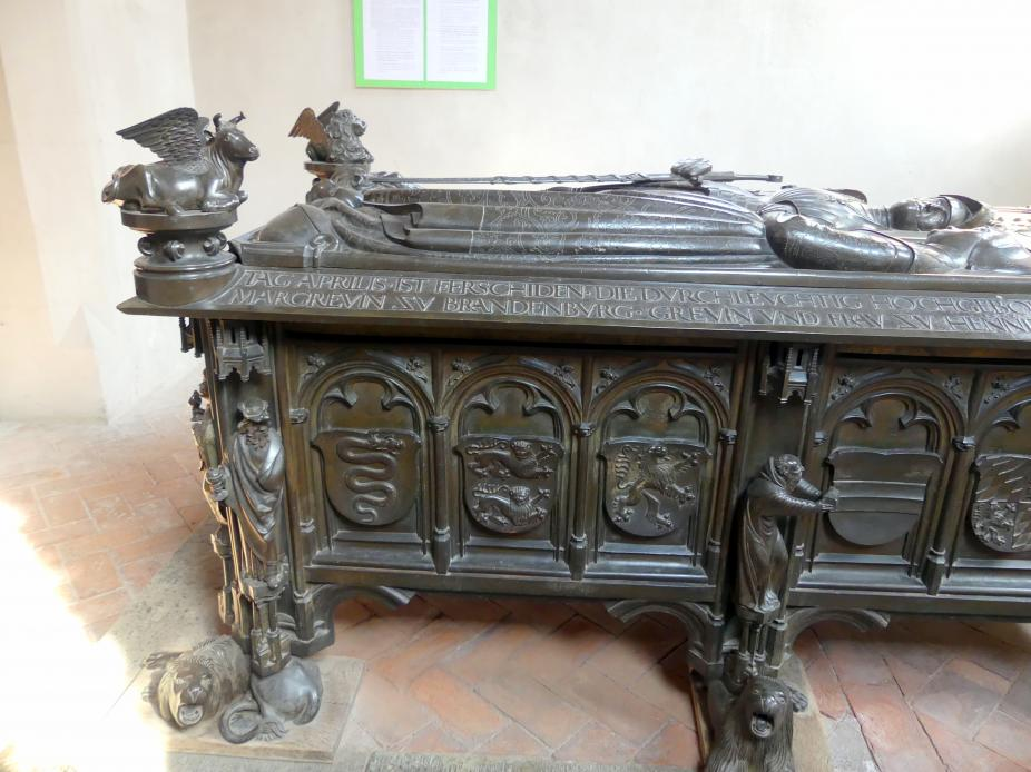 Hermann Vischer der Jüngere: Grabmal Elisabeth von Brandenburg (1474–1507) und Hermann VIII. von Henneberg (1470-1535), nach 1507, Bild 10/18