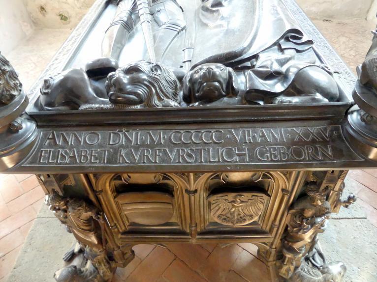 Hermann Vischer der Jüngere: Grabmal Elisabeth von Brandenburg (1474–1507) und Hermann VIII. von Henneberg (1470-1535), nach 1507, Bild 11/18