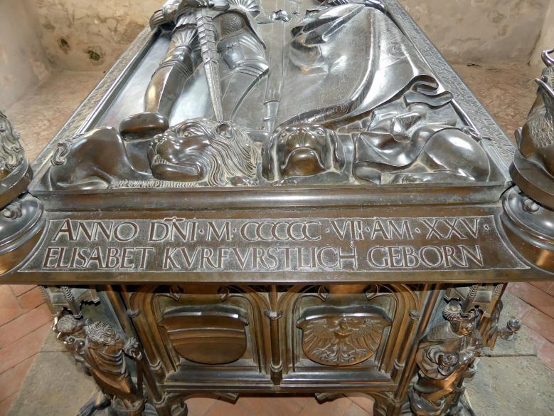 Hermann Vischer der Jüngere: Grabmal Elisabeth von Brandenburg (1474–1507) und Hermann VIII. von Henneberg (1470-1535), nach 1507, Bild 12/18