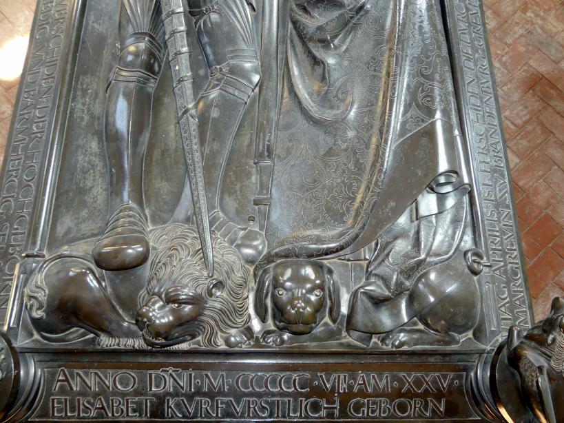Hermann Vischer der Jüngere: Grabmal Elisabeth von Brandenburg (1474–1507) und Hermann VIII. von Henneberg (1470-1535), nach 1507, Bild 13/18