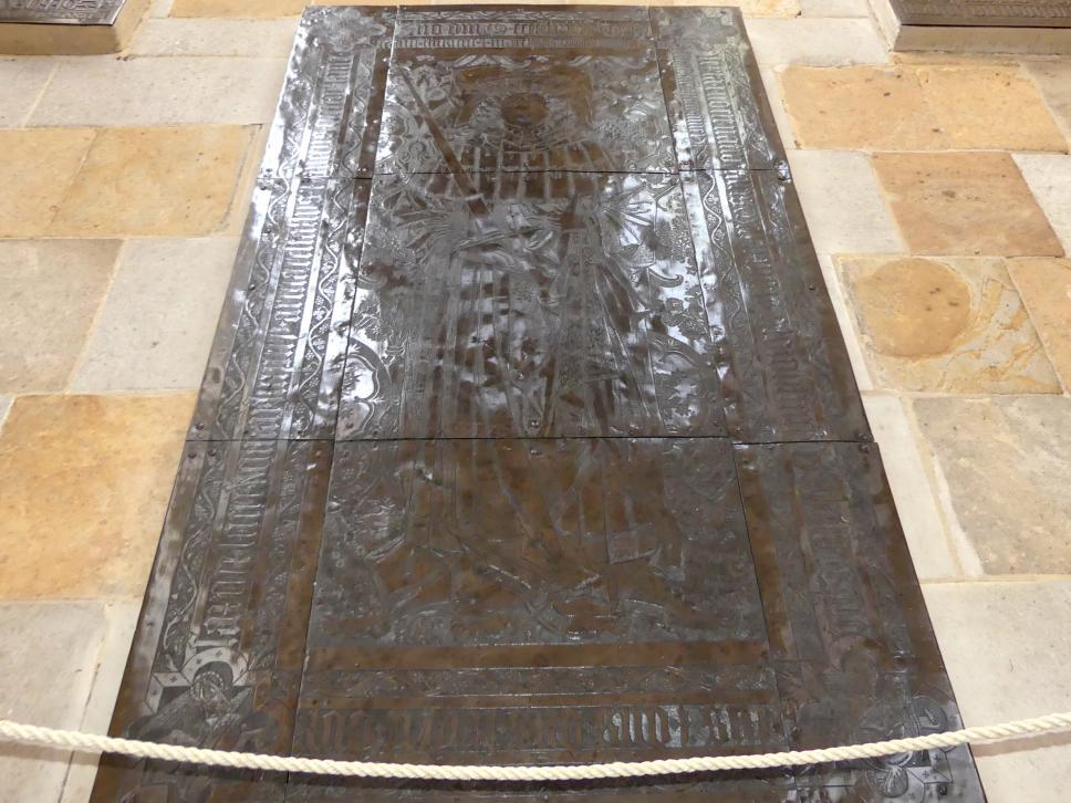 Hermann Vischer der Ältere: Grabplatte für Kurfürst Friedrich II. der Sanftmütige von Sachsen (1412-1464), 1486 - 1487