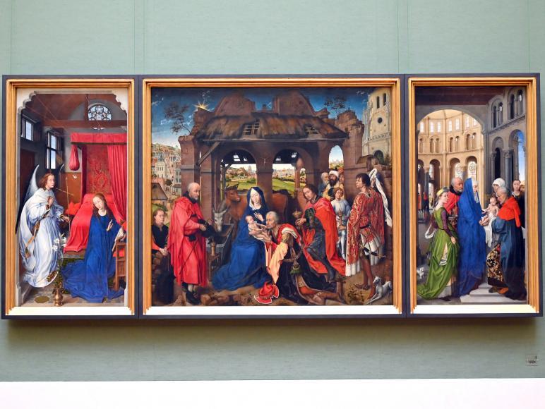 """Rogier van der Weyden: Dreikönigsaltar (""""Columba-Altar""""), um 1455"""