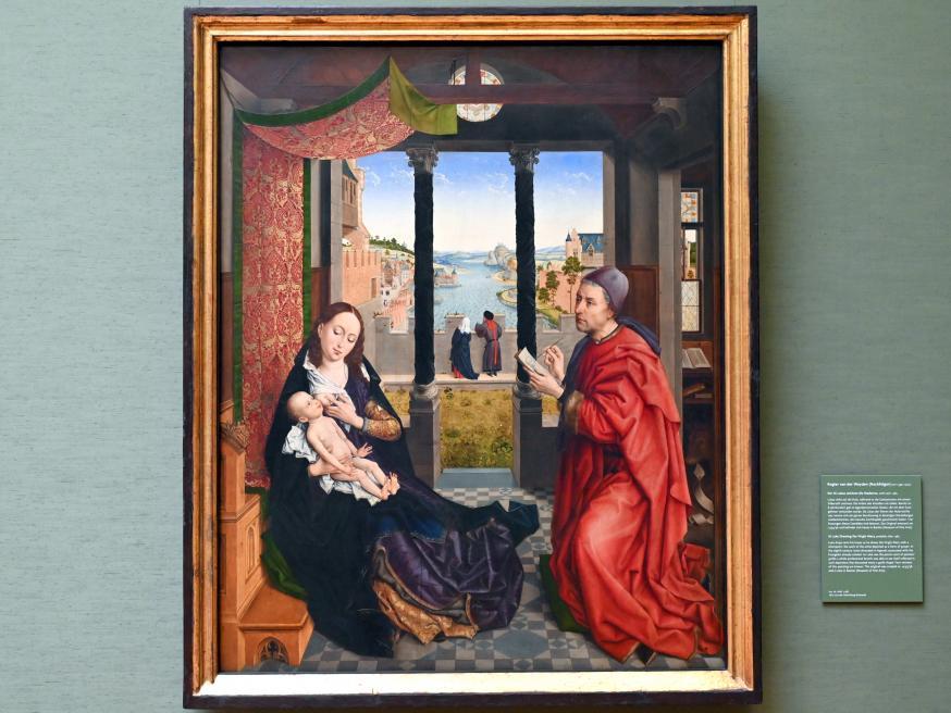 Rogier van der Weyden (Nachfolger): Der heilige Lukas zeichnet die Madonna, Nach 1484