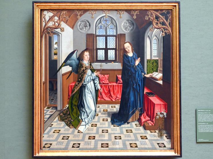 Albert (Aelbrecht) Bouts: Verkündigung an Maria, Um 1480