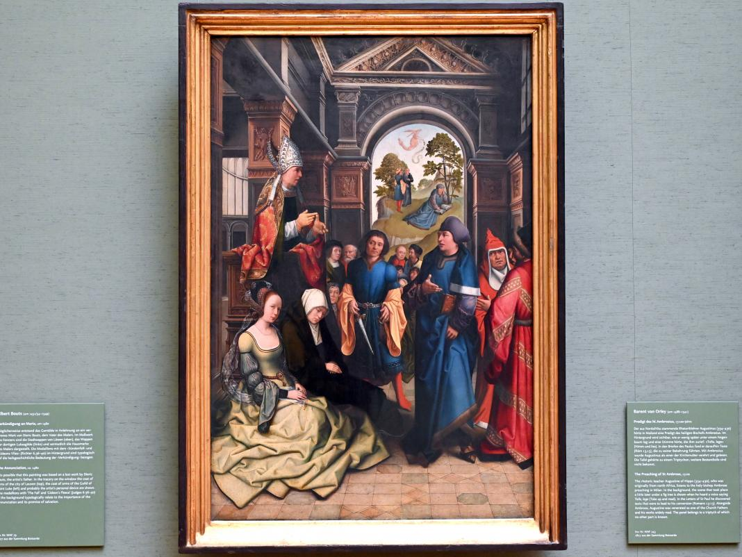 Bernard van Orley: Predikt des hl. Ambrosius, Um 1511 - 1519