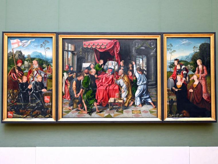 Joos van Cleve (Joos van der Beke): Marientod-Altar, Um 1520 - 1525