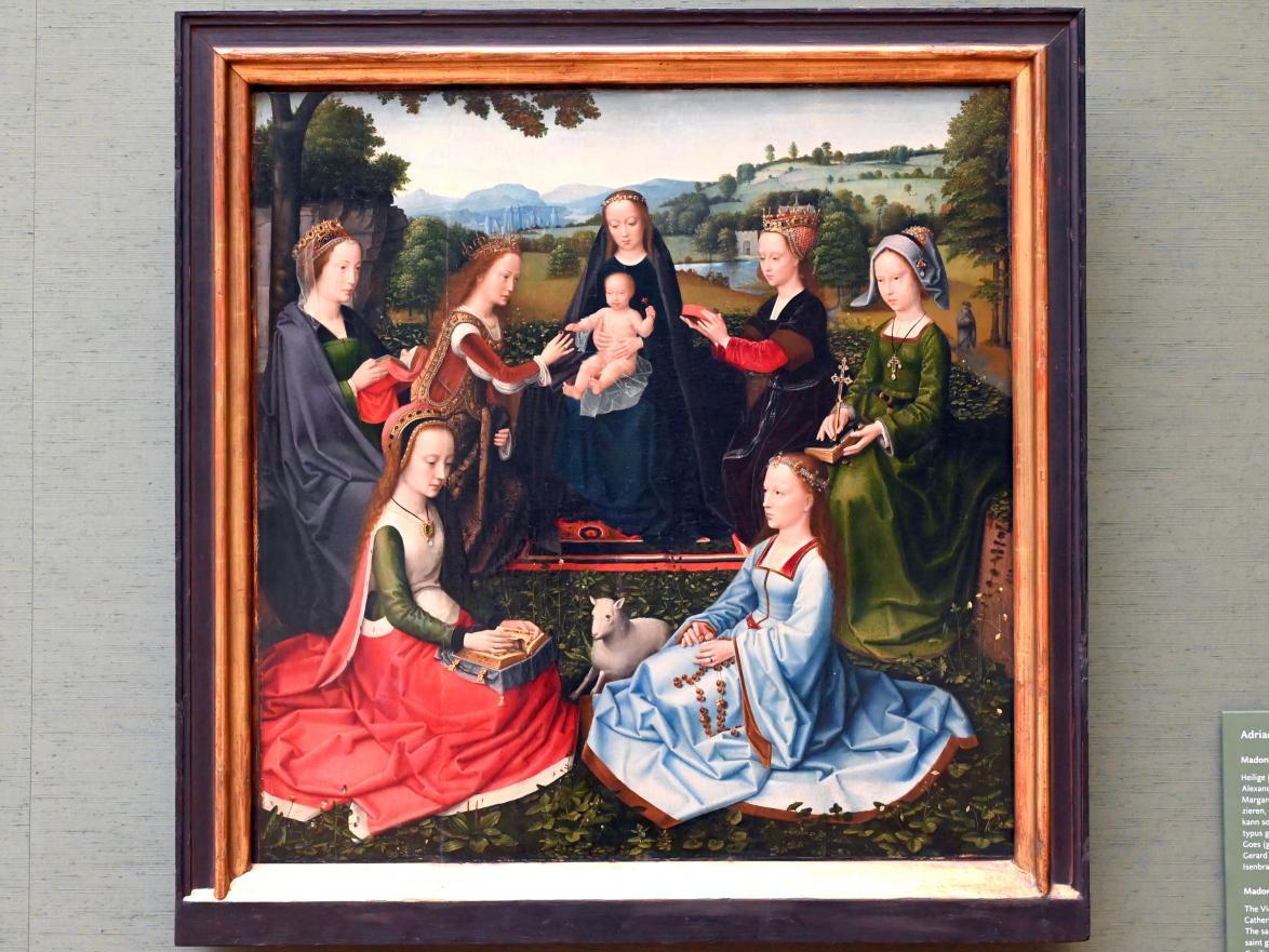 Adriaen Isenbrant: Madonna mit weiblichen Heiligen, 1. Viertel 16. Jhd.
