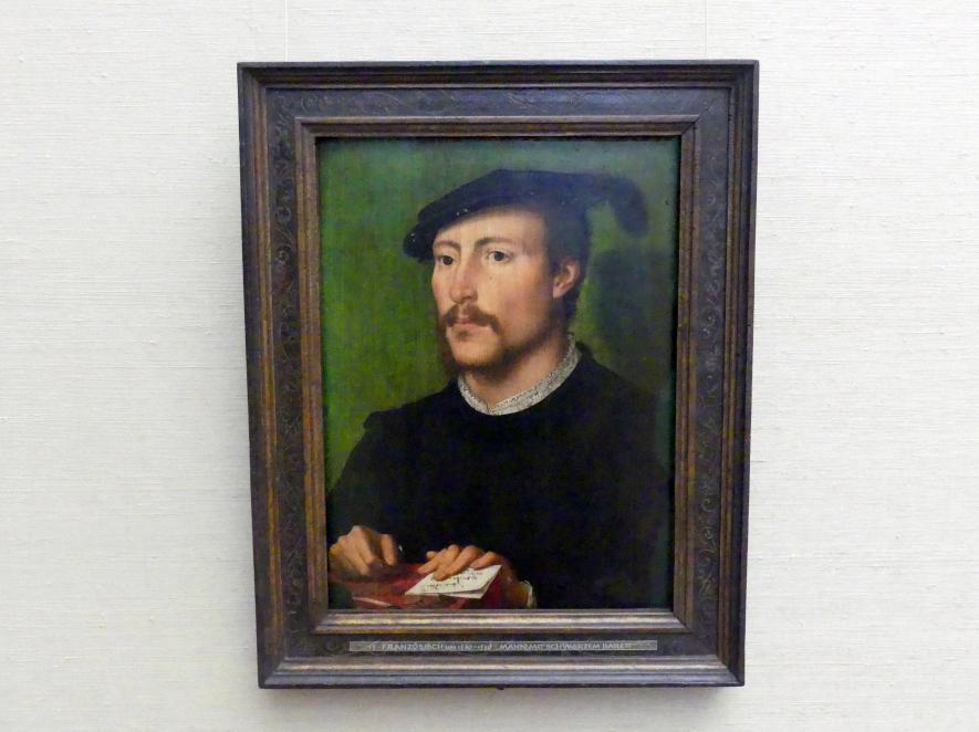 Mann mit schwarzem Barett, Um 1530 - 1535
