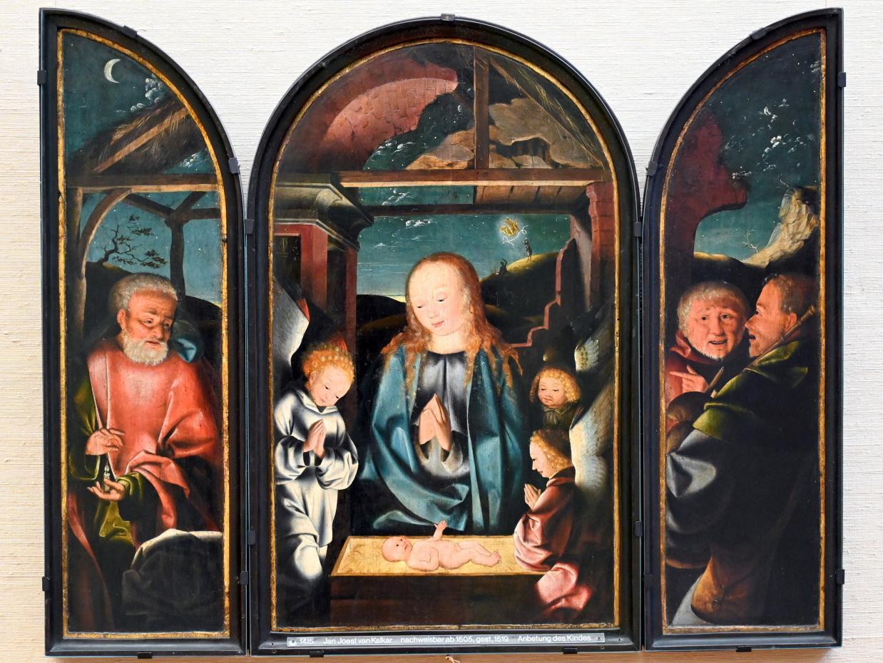 Jan Joest von Kalkar: Anbetung des Christkindes, Um 1500