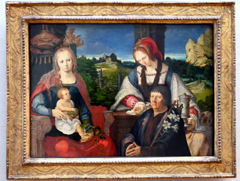 Lucas van Leyden: Maria mit dem Kind, der hl. Maria Magdalena und einem Stifter, 1522