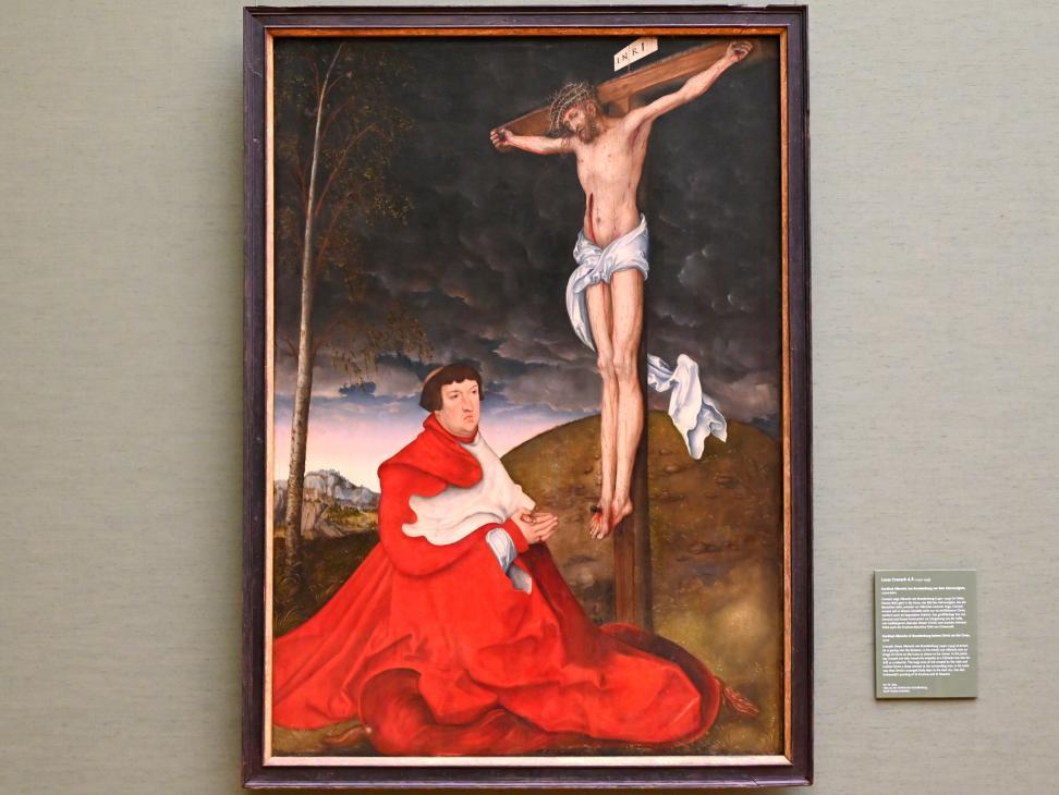 Lucas Cranach der Ältere: Kardinal Albrecht von Brandenburg vor dem Gekreuzigten, 1521 - 1529