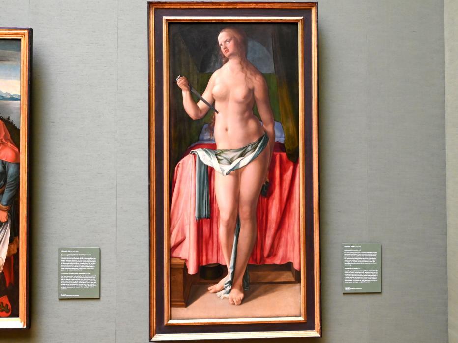 Albrecht Dürer: Selbstmord der Lucretia, 1518, Bild 1/2