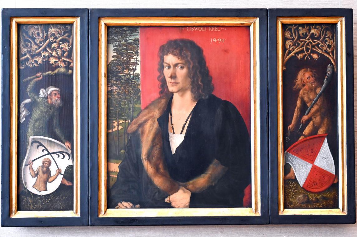 Albrecht Dürer: Bildnistriptychon des Oswolt Krel, 1499