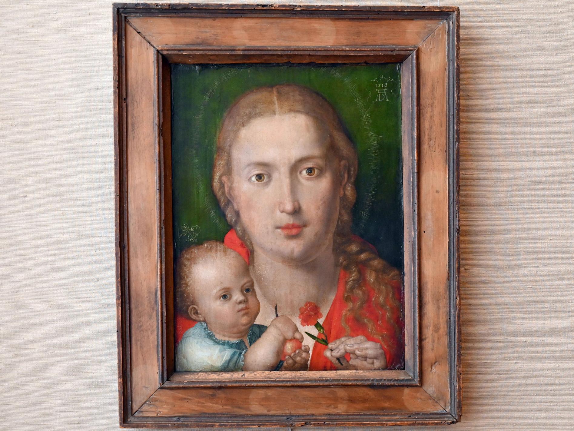 Albrecht Dürer: Muttergottes mit Nelke, 1516