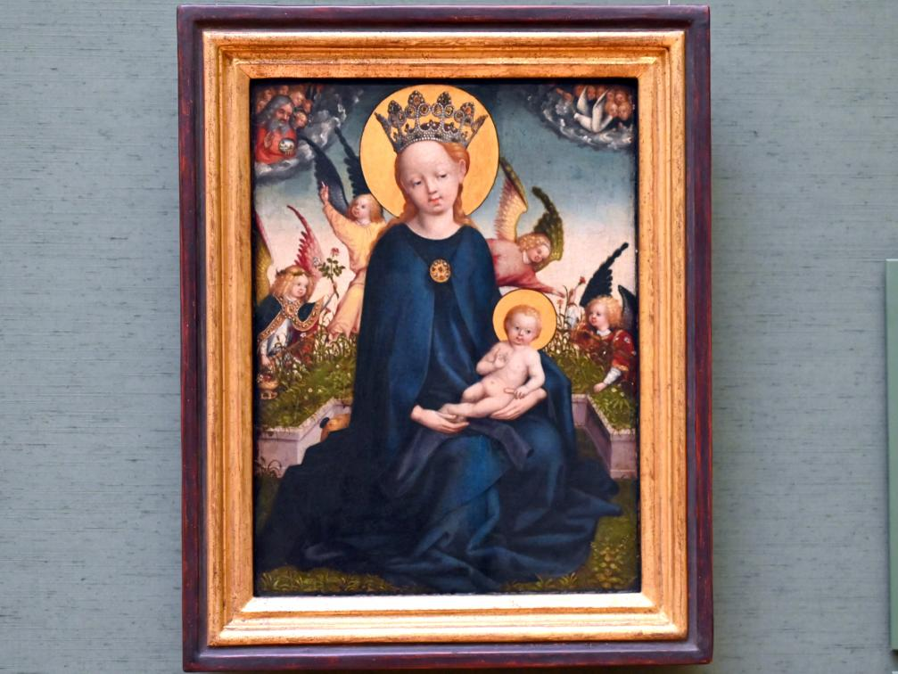 Stefan Lochner (Stephan Lochner): Maria mit Kind vor der Rasenbank, Um 1440