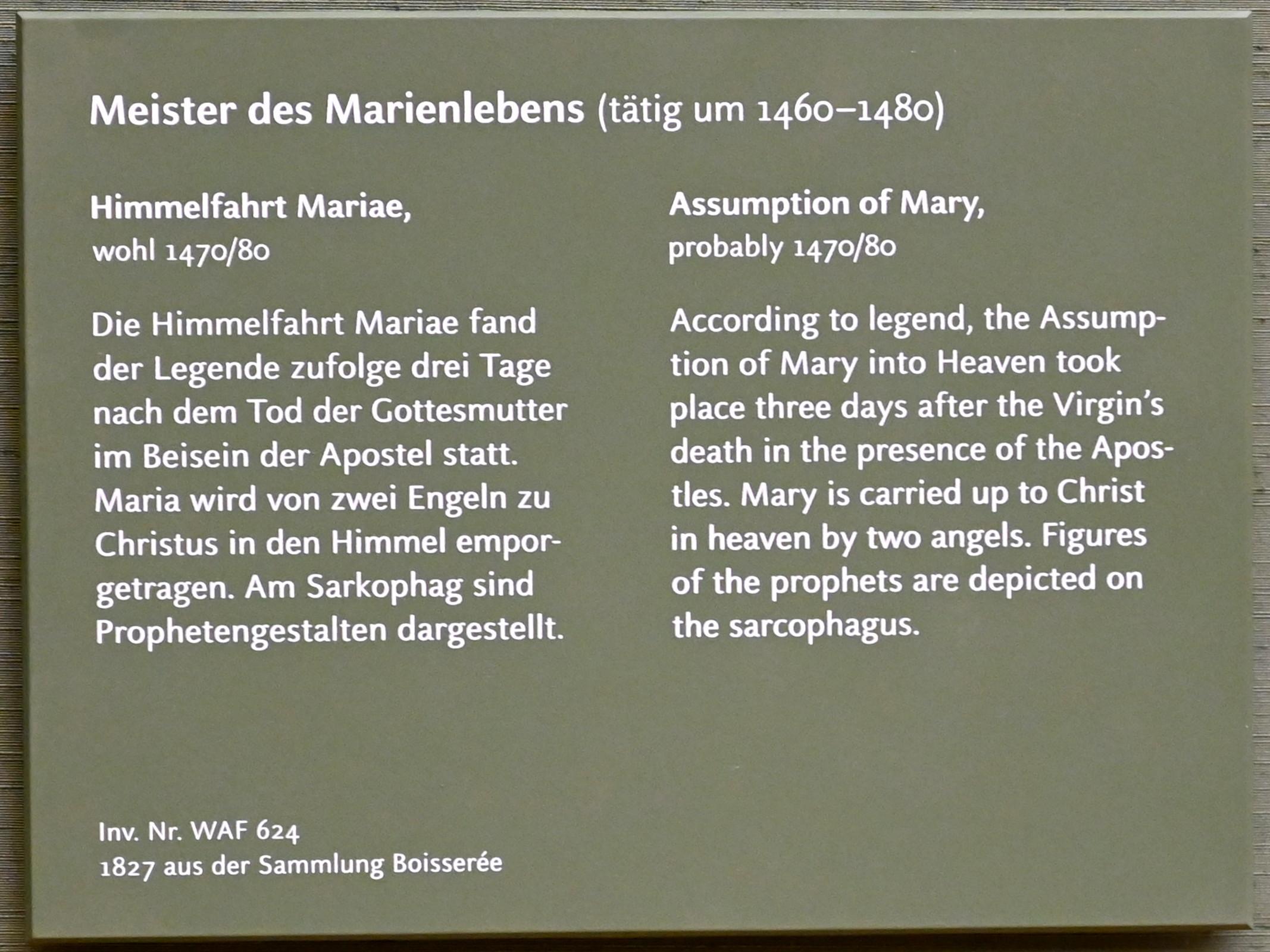 Meister des Marienlebens: Himmelfahrt Mariae, um 1470 - 1480, Bild 2/3