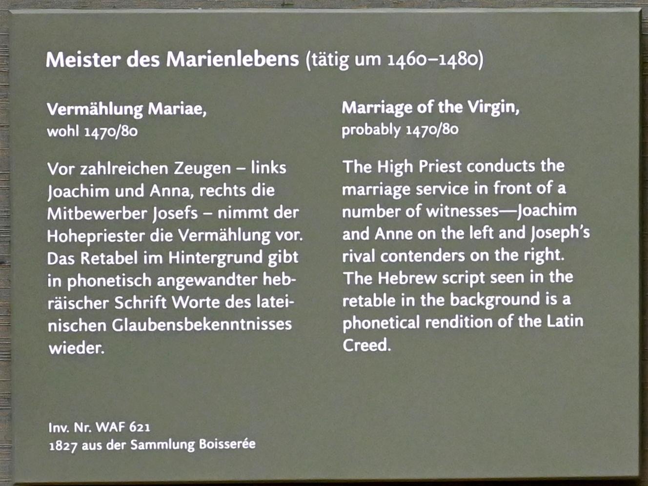 Meister des Marienlebens: Vermählung Mariae, um 1470 - 1480, Bild 2/3