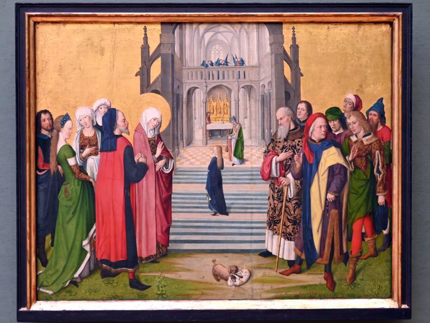 Meister des Marienlebens: Tempelgang Mariae, um 1470 - 1480