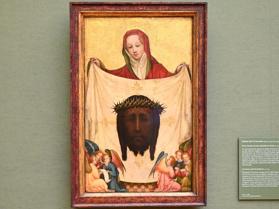 Meister der hl. Veronika: Die hl. Veronika mit dem Schweißtuch Christi, Um 1425