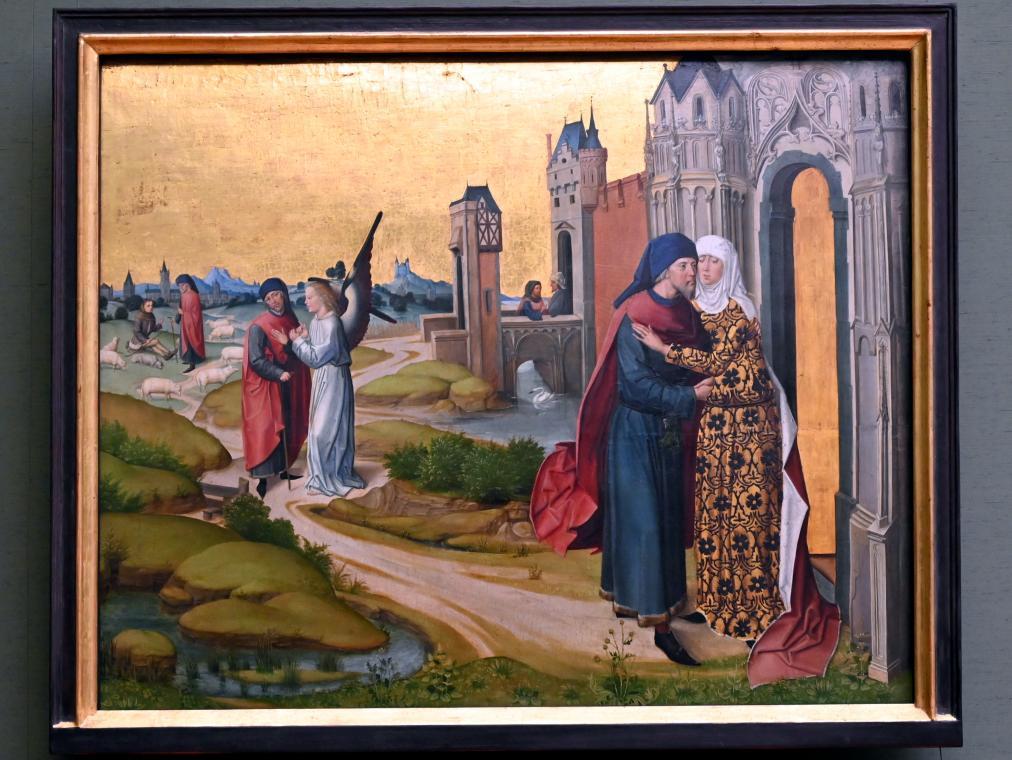 Meister des Marienlebens: Begegnung von Joachim und Anna an der Goldenen Pforte, Um 1470 - 1480