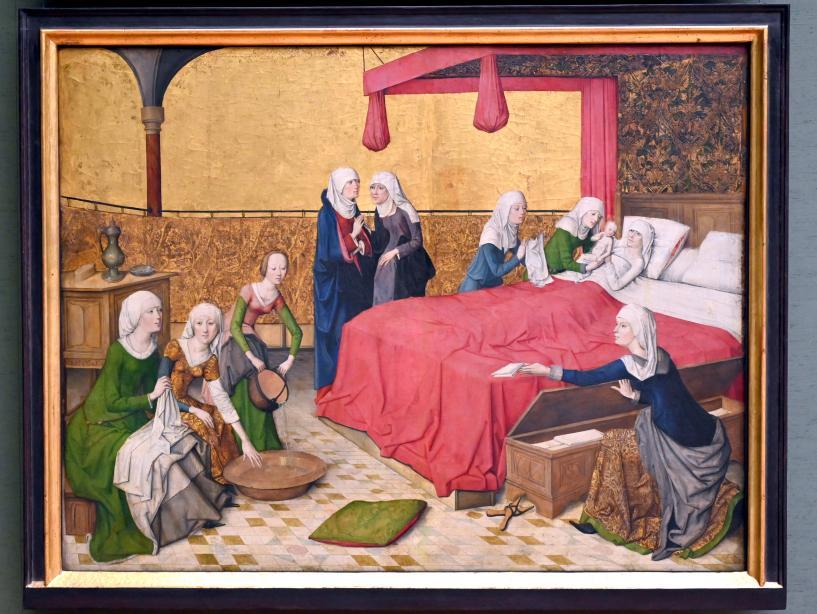 Meister des Marienlebens: Geburt Mariae, Um 1470 - 1480
