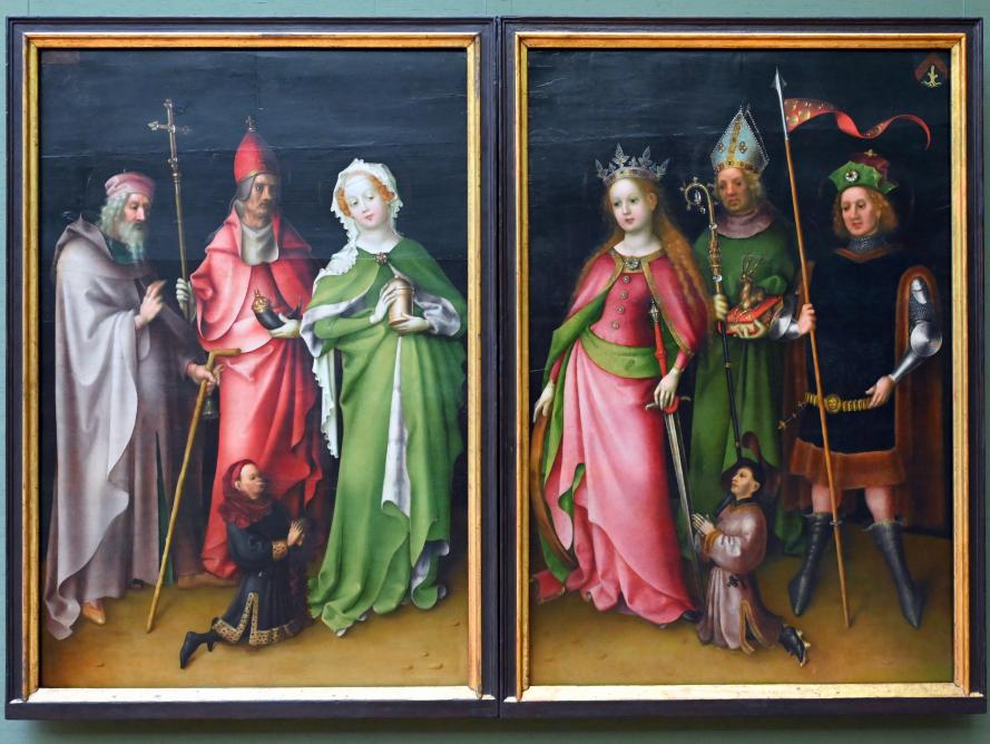 Stefan Lochner (Stephan Lochner): Flügelaußenseiten des Weltgerichtsaltars, um 1435