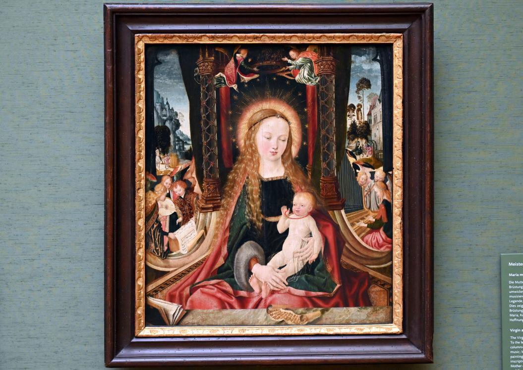 Meister des Aachener Altars: Maria mit Kind und musizierenden Engeln, um 1515