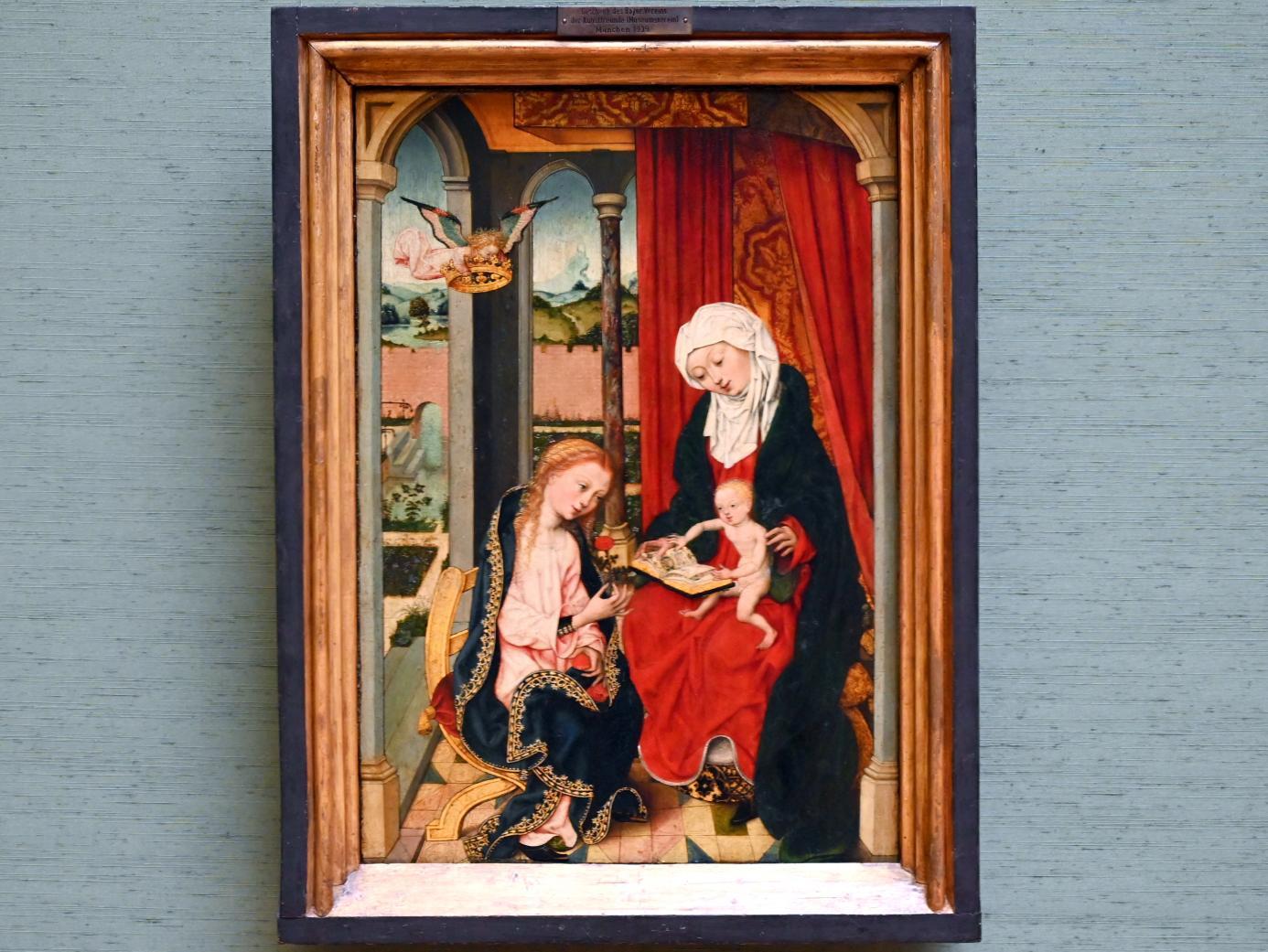 Meister des Bartholomäusaltars: Hl. Anna Selbdritt, Um 1495