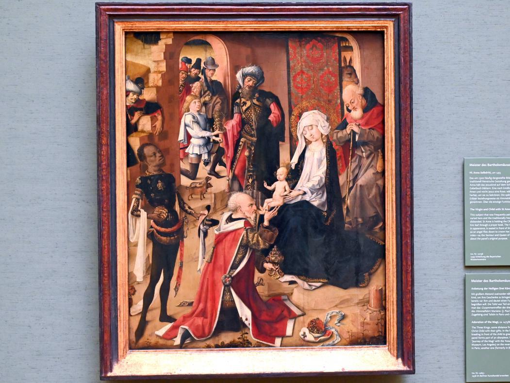 Meister des Bartholomäusaltars: Anbetung der Heiligen Drei Könige, Um 1475 - 1480