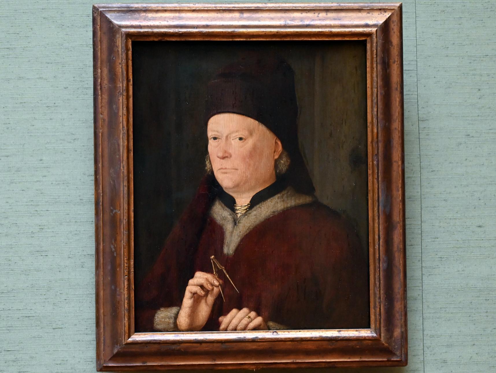 Meister des Marienlebens: Bildnis eines Baumeisters, Um 1470 - 1480