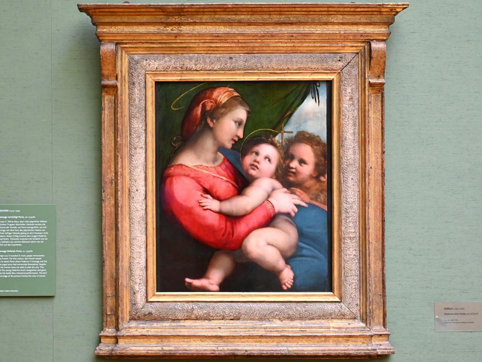 Raffaello Santi (Raffael): Madonna della Tenda, Um 1513 - 1514
