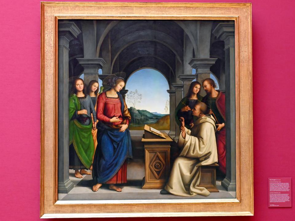 Pietro Perugino (Pietro di Cristoforo Vannucci): Die Vision des hl. Bernhard, um 1489 - 1490