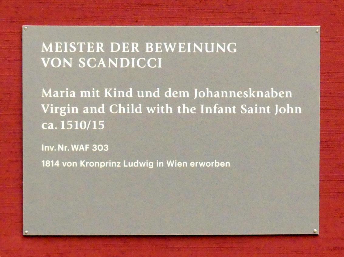 Meister der Beweinung von Scandicci: Maria mit Kind und dem Johannesknaben, um 1510 - 1515, Bild 2/2