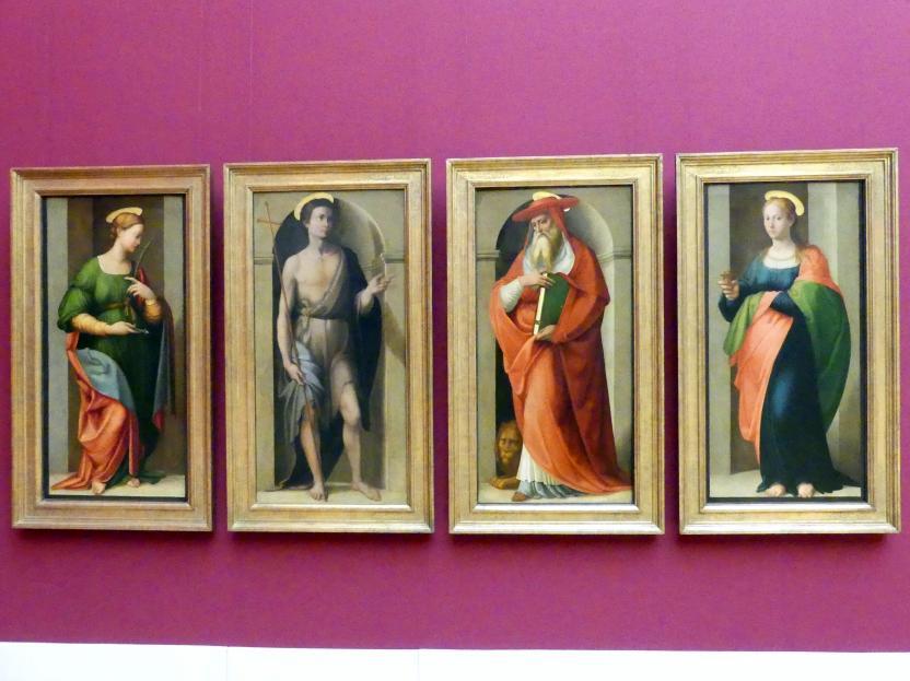 Francesco Granacci: Vier Tafeln des Hochaltars von S. Apollonia in Florenz, 1530 - 1535
