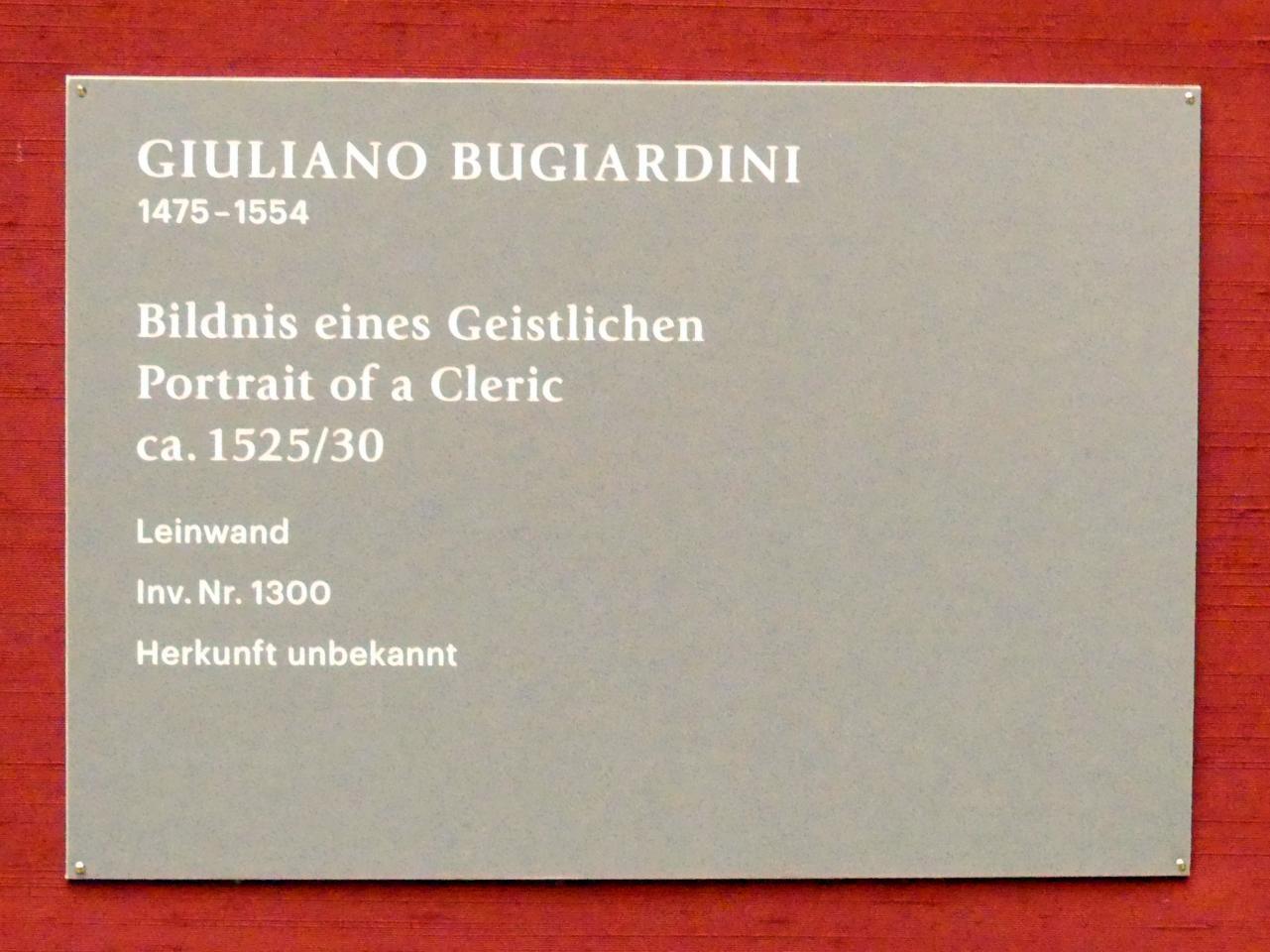 Giuliano Bugiardini: Bildnis eines Geistlichen, 1525 - 1530, Bild 2/2