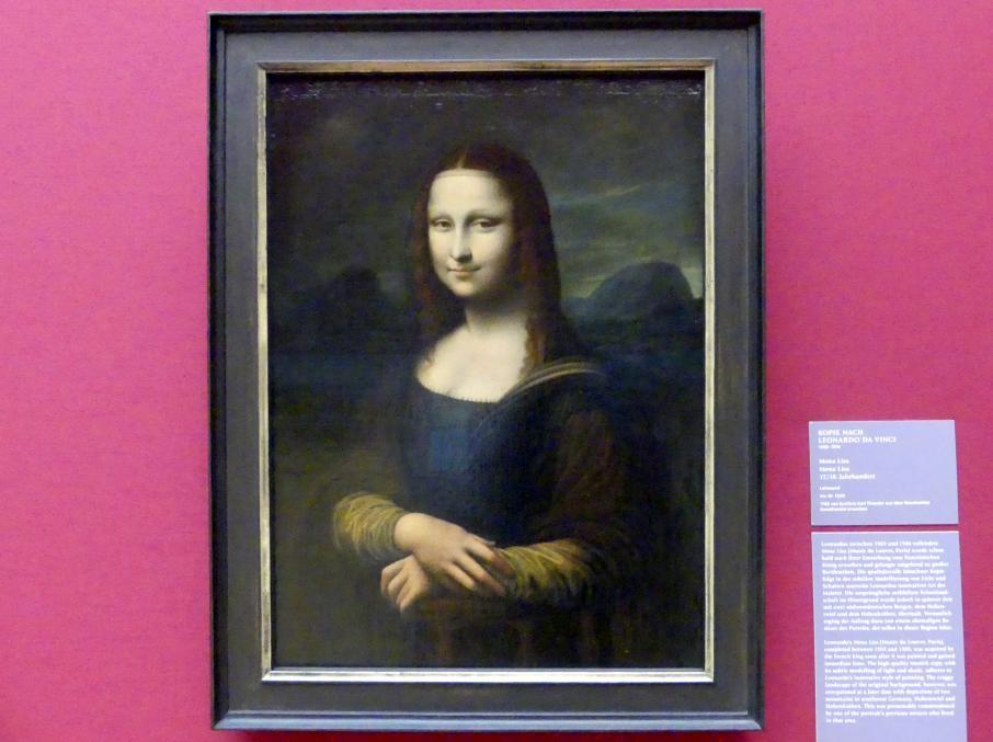 Leonardo da Vinci (Kopie): Mona Lisa, Um 1600 - 1800
