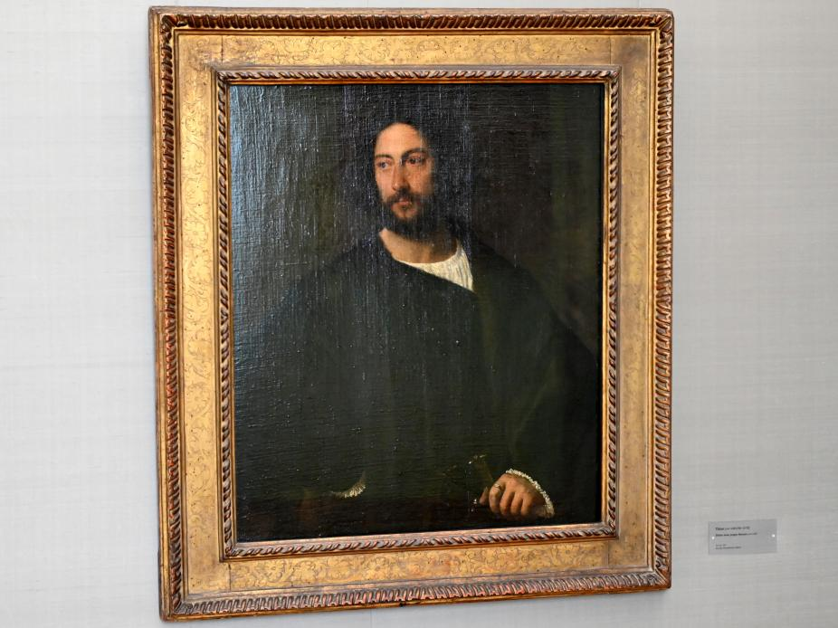 Tiziano Vecellio (Tizian): Bildnis eines jungen Mannes, um 1520