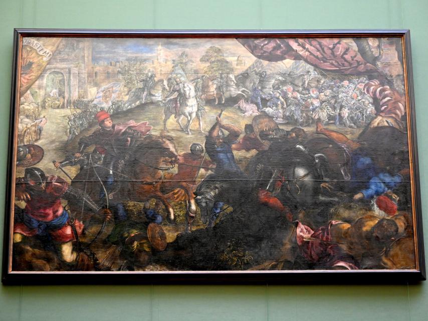 Jacopo Robusti (Tintoretto): Federico I. Gonzaga entsetzt die Stadt Legnano, Um 1578 - 1579